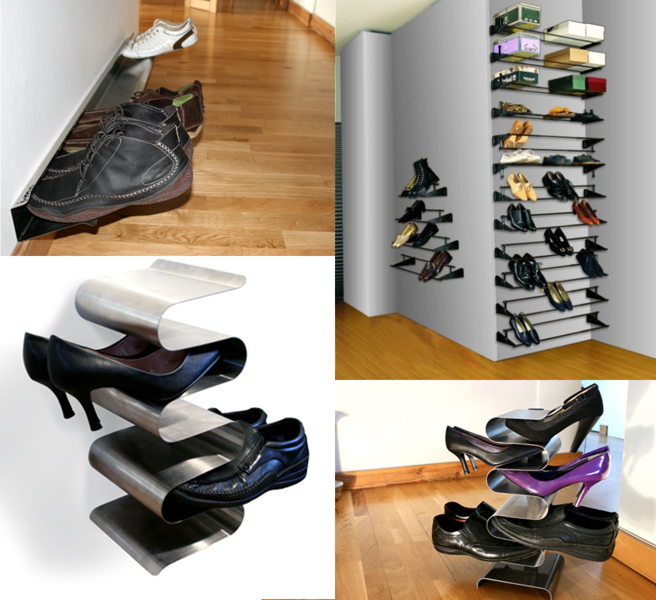 Clockwise, from top right: Bella shoe rack; Freestanding, Wall-Mounted ...