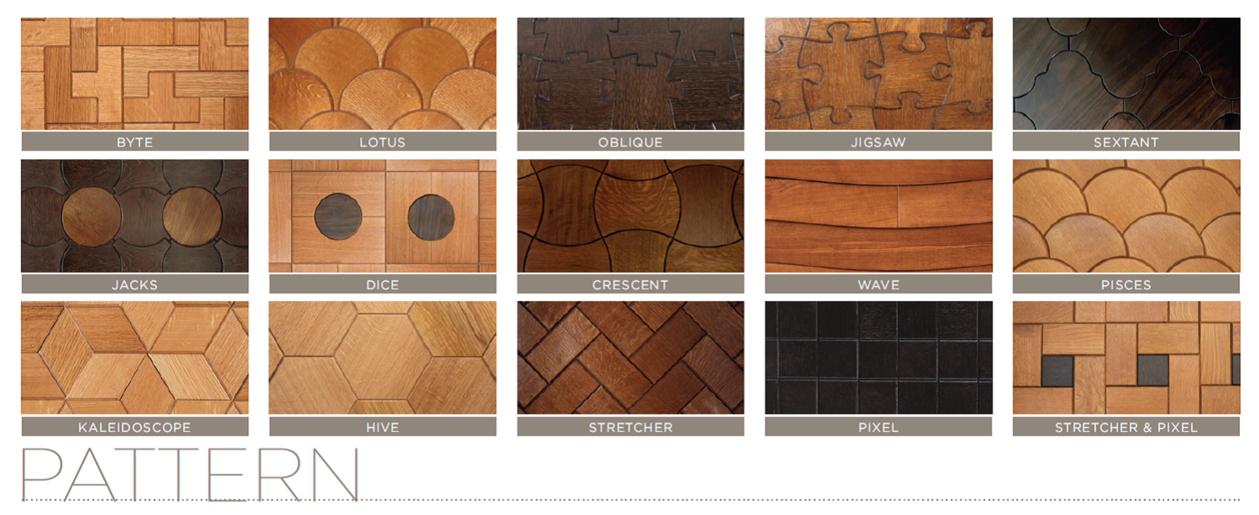 Wood floors do not always come in planks mecc interiors for Wood floor designs and patterns