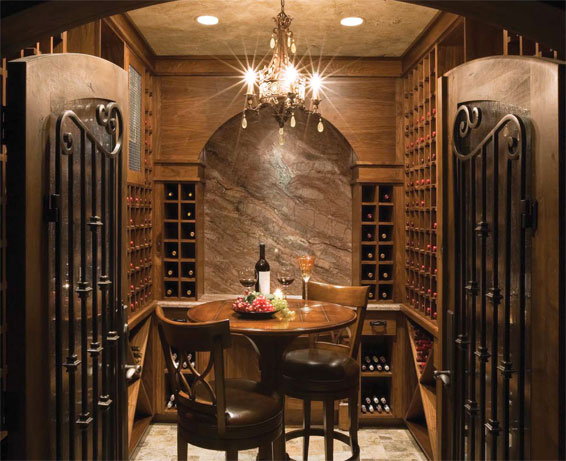 designed by utah designer michael uppwall this wine cellar was