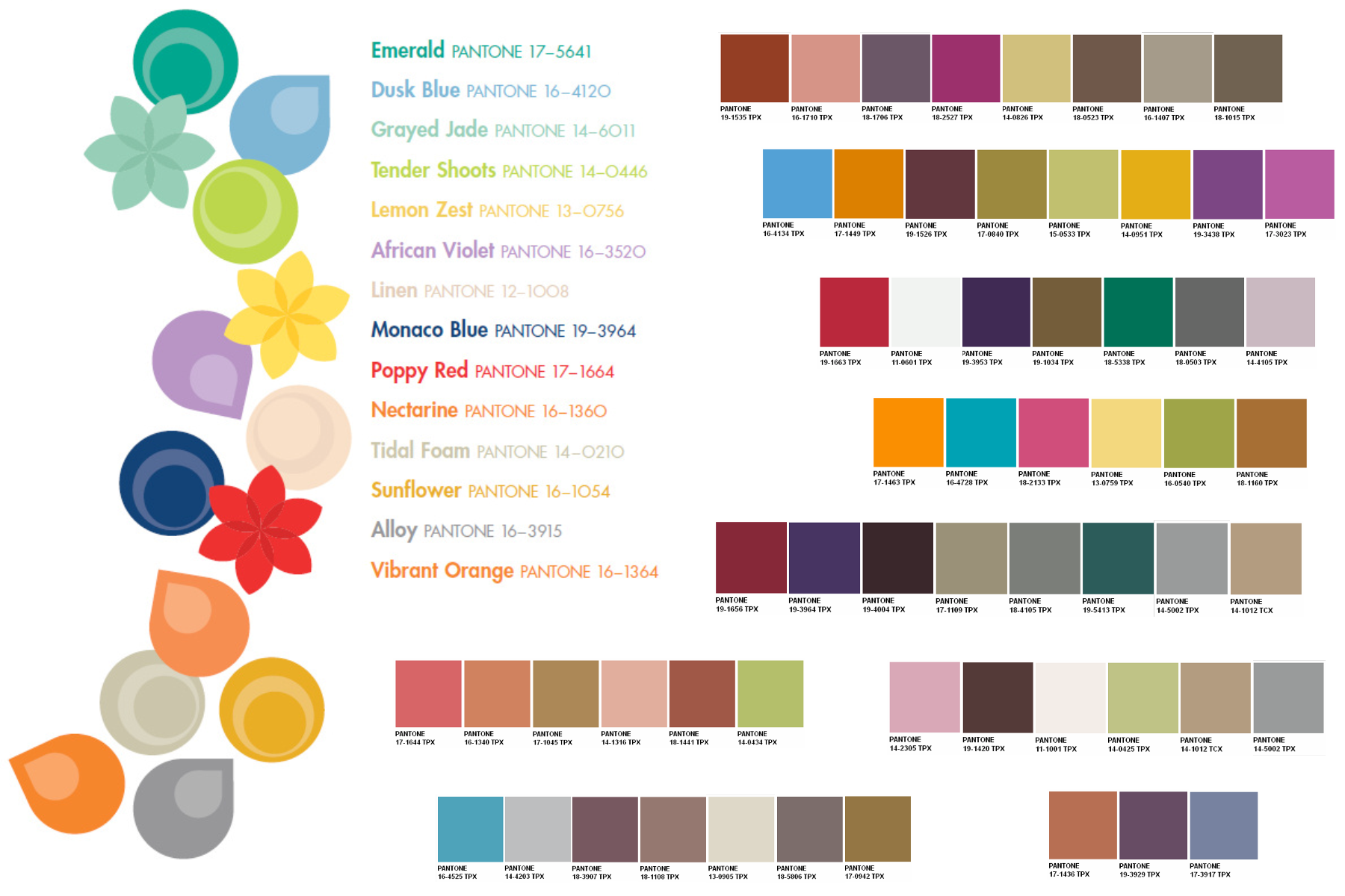 Pantone Color Chart 2013