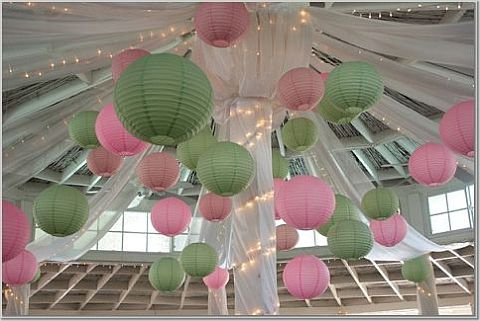 Hanging fabric is optional photo from diy wedding decorations
