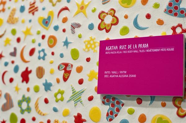Azulejos Baños Agatha Ruiz Dela Prada:colourful pattern by Spanish fashion designer Agatha Ruiz de la Prada