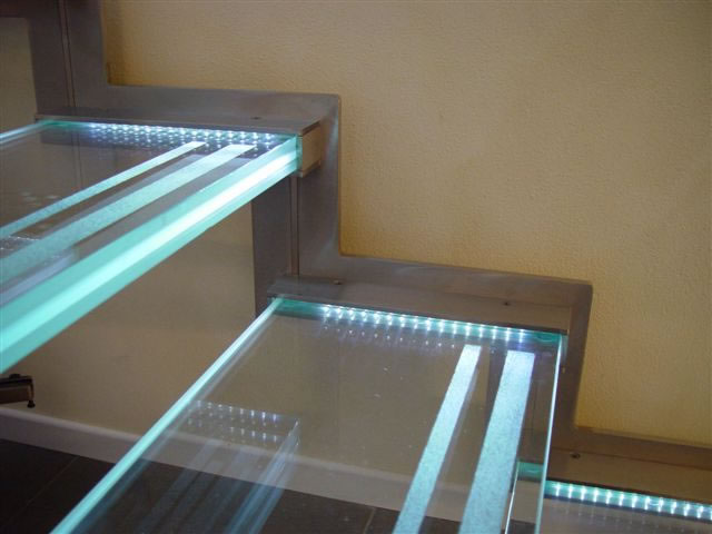 Lighted Glass Stair Treads Astairtreads