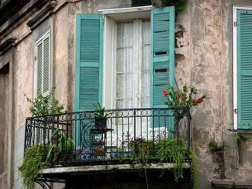 Some balconies are truly tiny.  Be inspired by some Parisian style. Image: hotnick.com