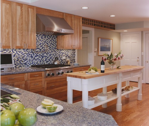 Long Narrow Kitchen With Island: Solid Wood Kitchen Island Plans
