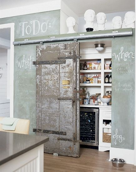 Barn Door Kitchen Pantry