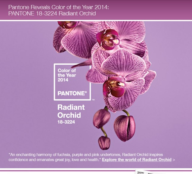 Pantone 2014 colour of the year, Radiant Orchid