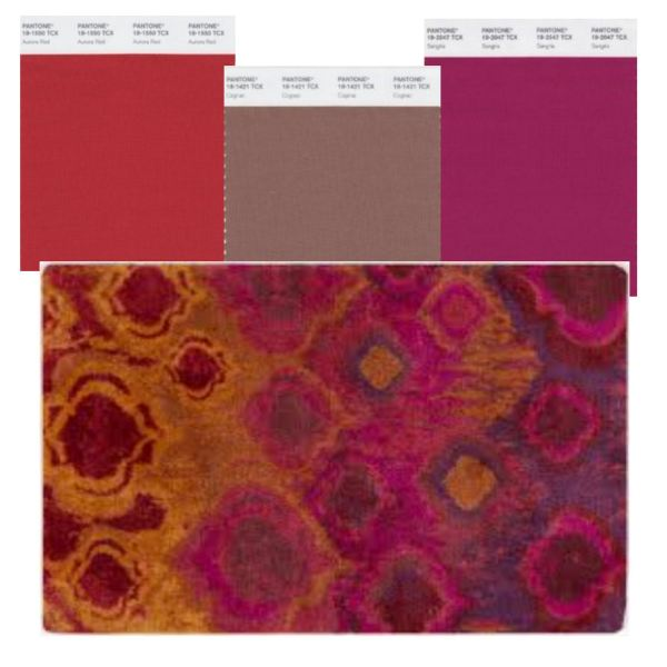mecc interiors inc. | Pantone Aurora Red, Cognac, and Sangria