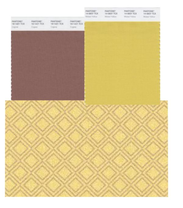 mecc interiors inc. | Pantone Cognac and Misted Yellow