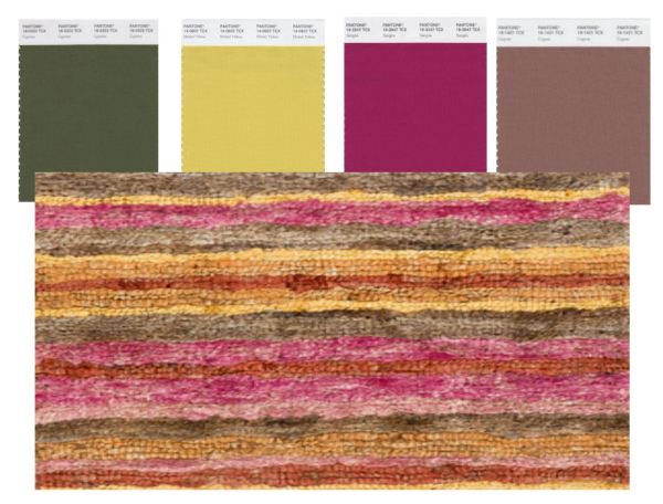 mecc interiors inc. | Pantone Cypress, Misted Yellow, Sangria, and Cognac