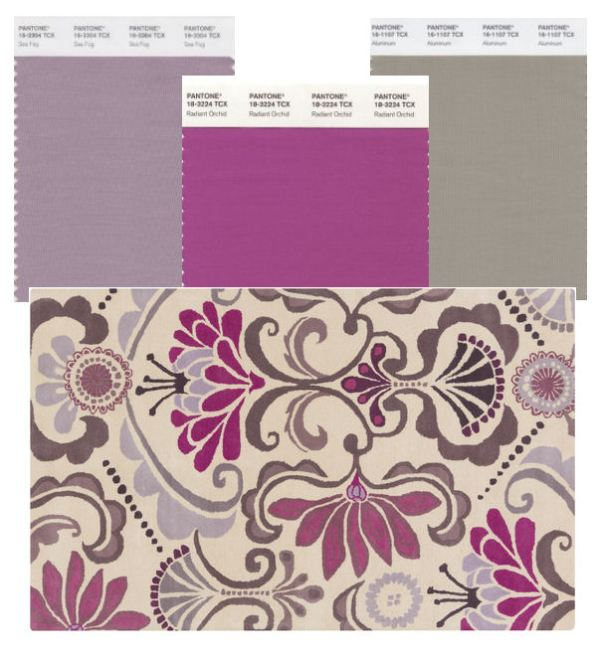 mecc interiors inc. | Pantone Sea Fog, Radiant Orchid and Aluminum