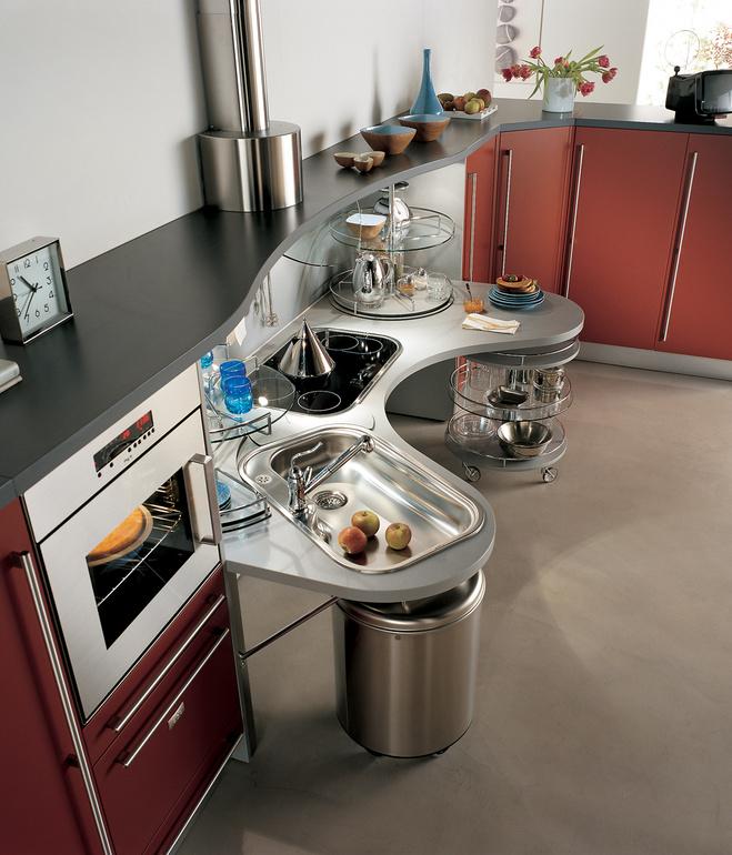 Top View Of Snaidero Skyline Universal Design Kitchen