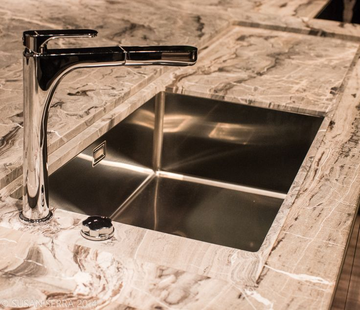 Marble Sink Countertop : Marble countertop and integrated sink and drainboard configuration add ...