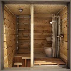 skit: a cross-shaped micro-home | @meccinteriors | design bites