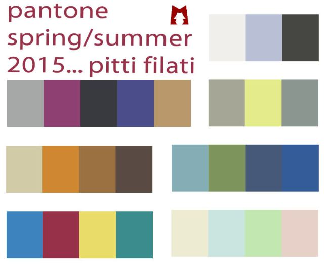 Spring Summer 2015 Colour Palette Spring/summer 2015 Palettes