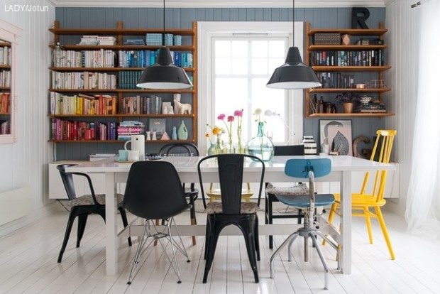 Via Katy Hanh Designs Dining Chairs Need Not Match To Make A Powerful Statement