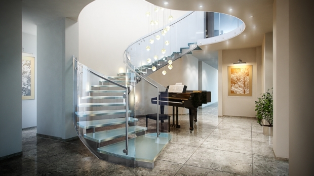 11 solutions for the awkward niche beside your curved staircase | @meccinteriors | design bites